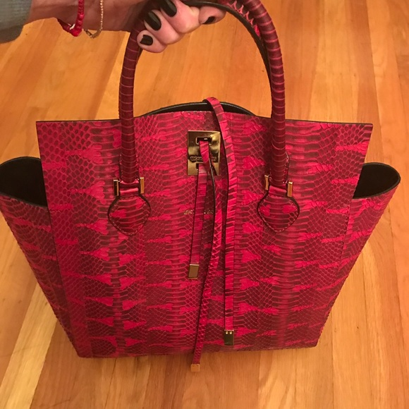 aa33305c9689 Michael Kors Bags | Collection Red Snake Miranda | Poshmark