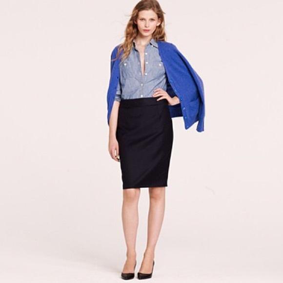 eab20bd5ea J. Crew Skirts | J Crew Black Pencil Skirt In Super 120s Wool | Poshmark