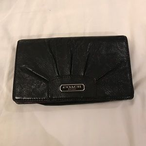 Black coach mini bag/ wristlets/ clutch