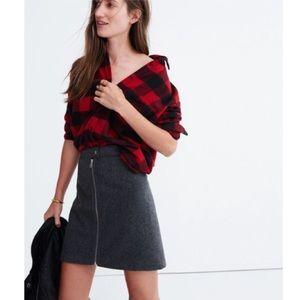 Madewell Dresses & Skirts - NWOT Madewell Studio Zip Wool Blend Skirt