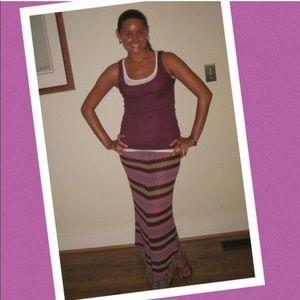 Zara knit bohemian skirt