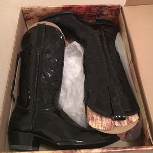 """Old Gringo Shoes - OLD GRINGO Black Patent Leather Diego 13"""" Boots 9"""