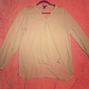 Tops - Forever 21 lace detail shirt