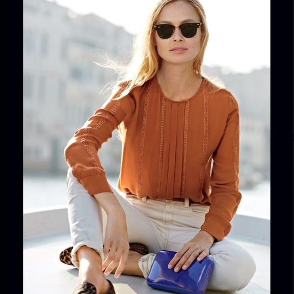 3977070638bc3d J. Crew Tops - J. CREW silk blouse rust color