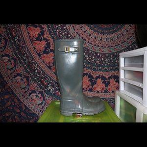 Women's Original Tall Gloss Hunter Rain Boots US7