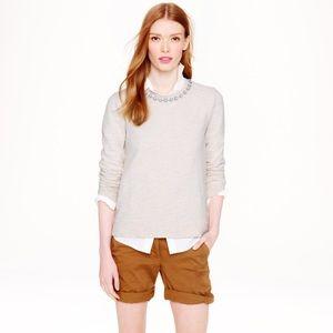 J Crew Marled Jeweled Sweatshirt