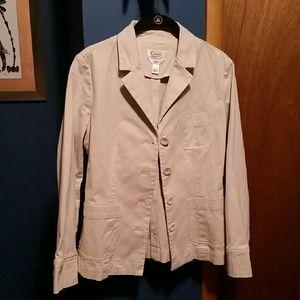 Talbots petite ivory jacket