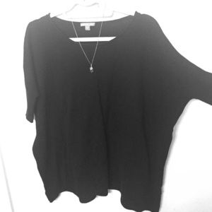 James Perse Tops - JAMES PERSE 3/4 SLEEVED BLACK TOP