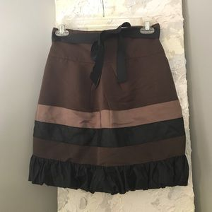 Forever 21 ruffle skirt with bow belt size XS