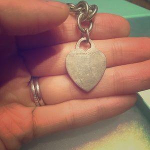 Genuine Tiffany Heart charm chain necklace