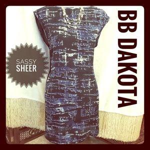 BB Dakota Dresses & Skirts - BB Dakota Sheer Dress SZ SM soft black and blues