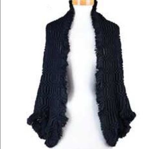 The NEW Boutique Sweaters - Last One (Black)! Fringe Woven Shrug