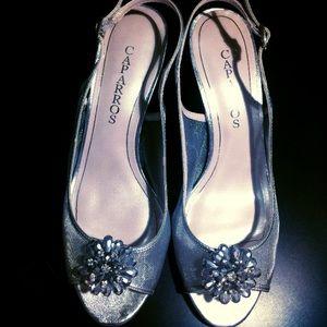 """Caparros Shoes - NIB Caparros silver """"Savanna"""" heels"""
