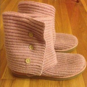 Pink Knit Ugg Boots
