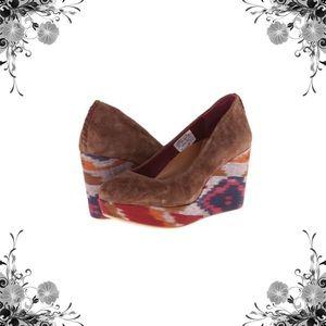 Reef Shoes - Reef 'High Tropic' Suede Brown Wedges