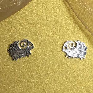 Jewelry - 🐑🐑  Sterling silver plated ram 🐑 earrings