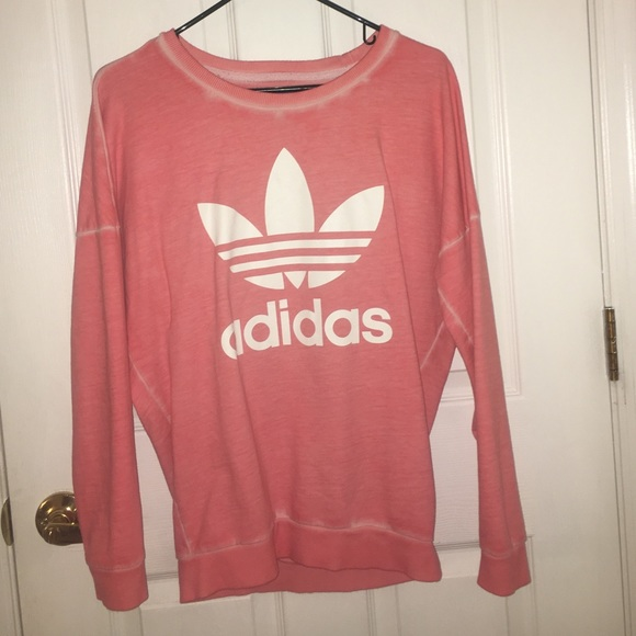 Adidas Sweaters - Adidas Originals Pink Oversized Pullover Sweater d0653034c1