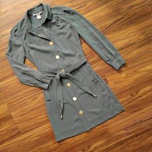 Diane von Furstenberg Dresses & Skirts - Diane Von Furstenberg Sage Green Shirtdress