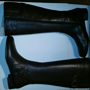 RARE! Nine west dark brown tall leather boots