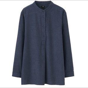 Uniqlo Tops - NEW Uniqlo Navy Flannel Shirt Small