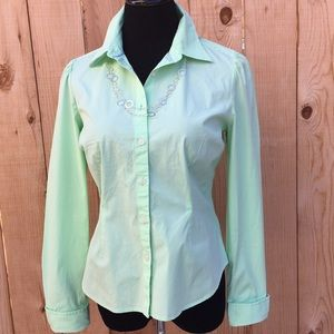 Tommy Hilfiger Tops - Mint Green Button Up Blouse
