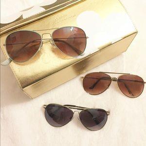Three Pairs of Aviator Sunglasses - Sunnies