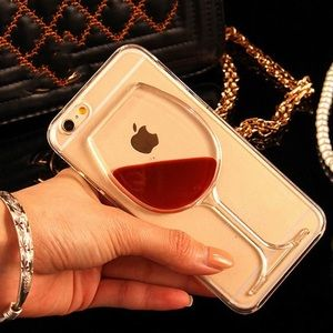 Accessories - 🔥LAST ONE🔥Quicksand Red Wine Glass IPhone Case🍷