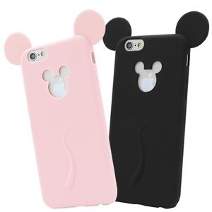 Accessories - Cute Candy Color Soft Mickey Mouse Ear IPhone Case