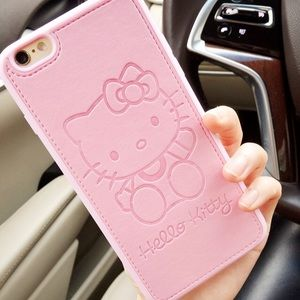 Accessories - High Quality Leather Hello Kitty IPhone Case 😍💗