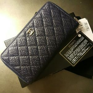 CHANEL Handbags - Authentic Chanel Zipped Long Wallet