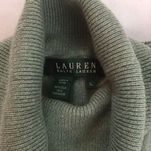 Ralph Lauren Silk and Cashmere Turtleneck Sweater