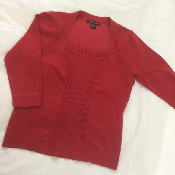 August Silk Sweaters - ❄️ Red Silk Knit Top ❄️