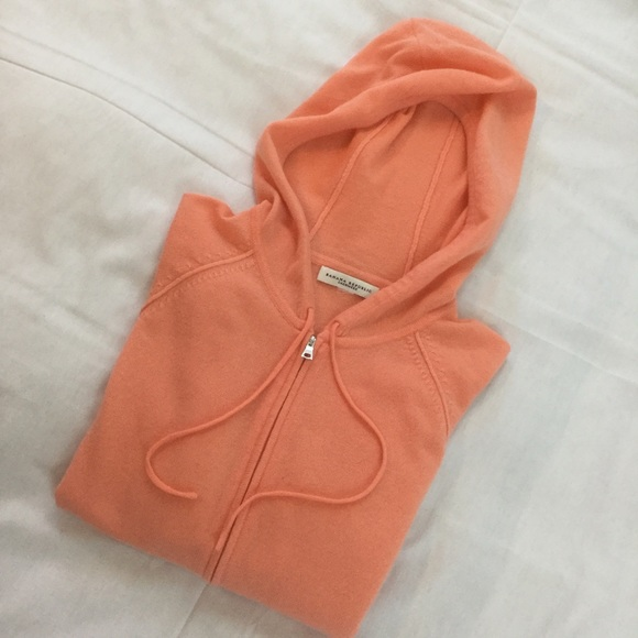 Banana Republic Tops - Orange Sherbet Cashmere Short Sleeved Hoodie