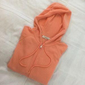 Banana Republic Tops - Orange Sherbet Cashmere Short Sleeved Hoodie