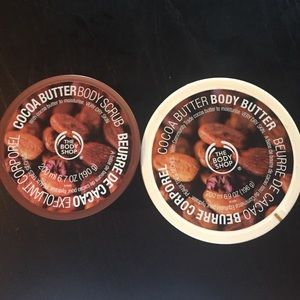 The Body Shop Body Scrub and Butter