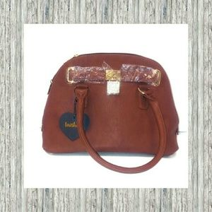 IMOSHION COGNAC LEATHER PURSE