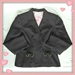 Liz Claiborne Jackets & Blazers - 🎀 Liz Claiborne Blazer with bows 🎀. NWOT.