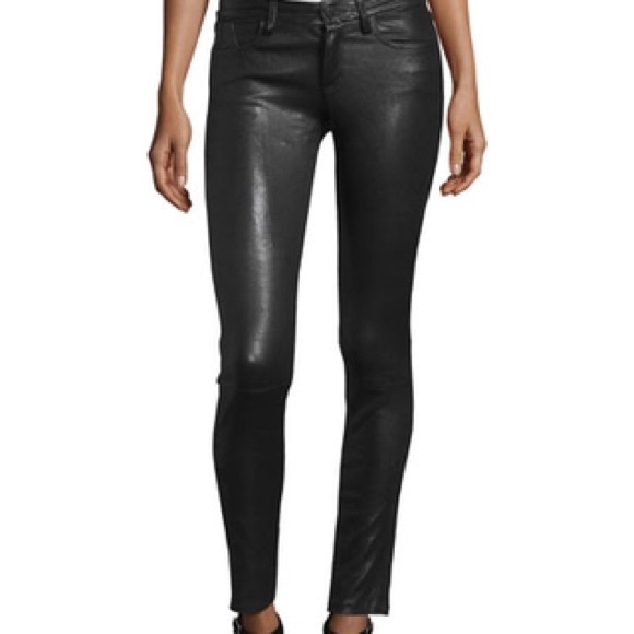 Angie 5 pocket leather pants