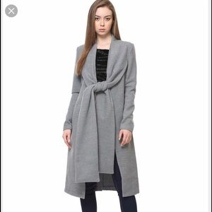 Designer grey trench coat