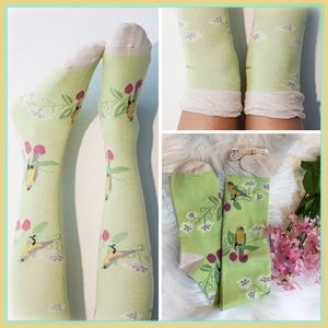 Peony and Moss Accessories - 🆕Knee High Socks in 'Branches'