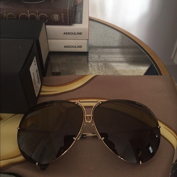 180566f4b1ed Gold Porsche Design sunglasses. Size 69. M 584c43c2fbf6f923b303e9cf. Other  Accessories ...