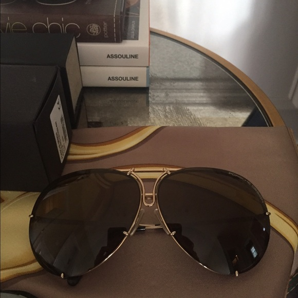 6875d09fd481 Gold Porsche Design sunglasses. Size 69. M 584c43c2fbf6f923b303e9cf