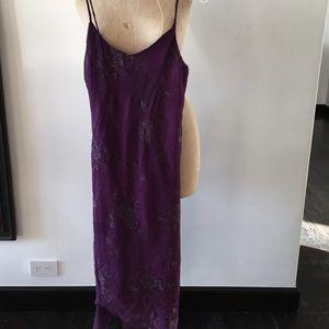 Silky Long Purple Dress