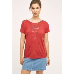 NWT Anthropologie Tiny Macrame Bib Tee MD