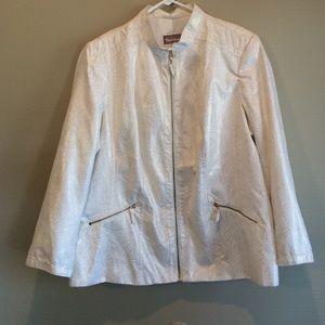 TanJay Jackets & Blazers - Ivory and Gold Blazer Jacket