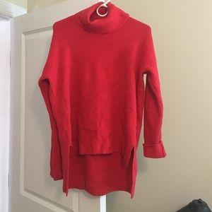 LOFT Sweaters - Red loft turtleneck sweater