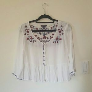 Kendall & Kylie Tops - MOVING SALE Kendall & kylie embroidered top