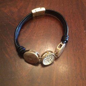 Gorgeous leather charm bracelet