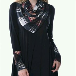 Pastels Clothing Tops - Reviews addedUSA MADE plaid sleeve tunic and Scarf