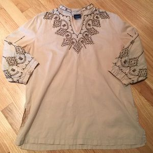 Westbound Petites Embroidered Tunic